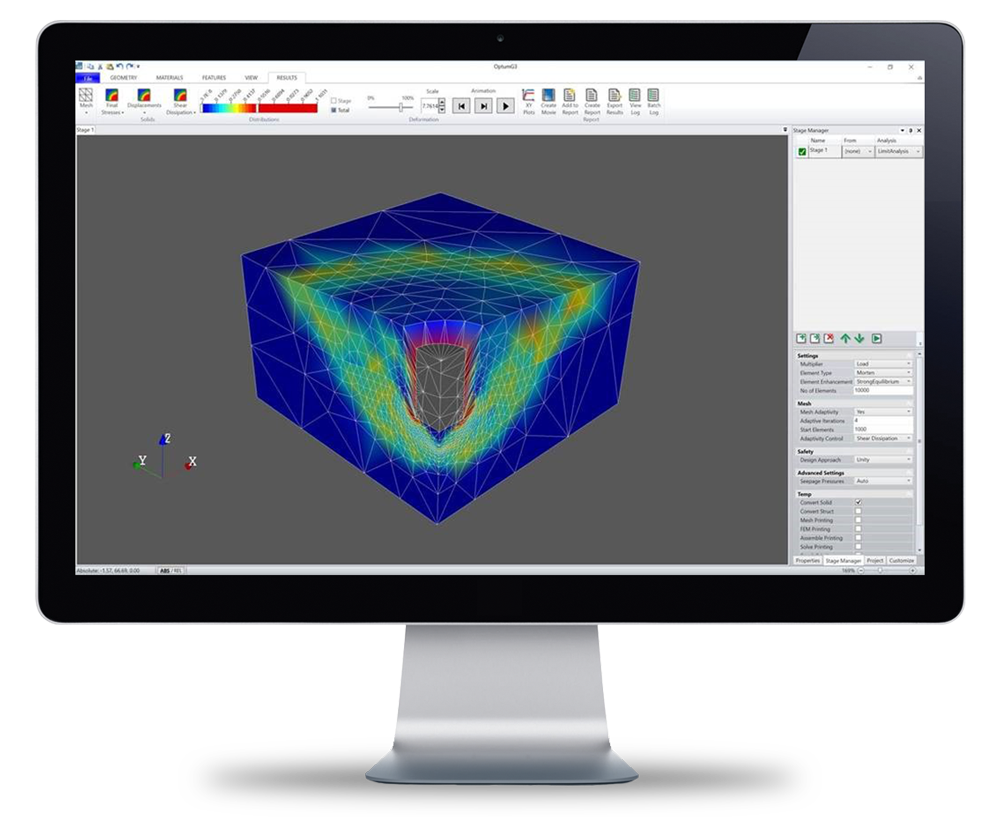 optumg3 3D finite element analysis software