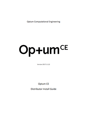 OptumDistributor install guide
