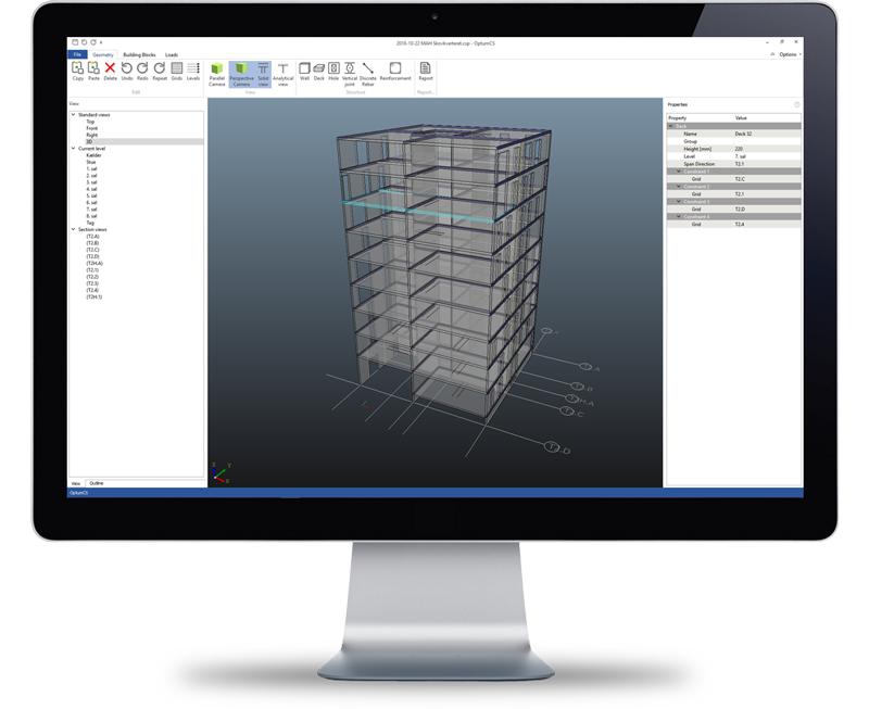 concrete element design software