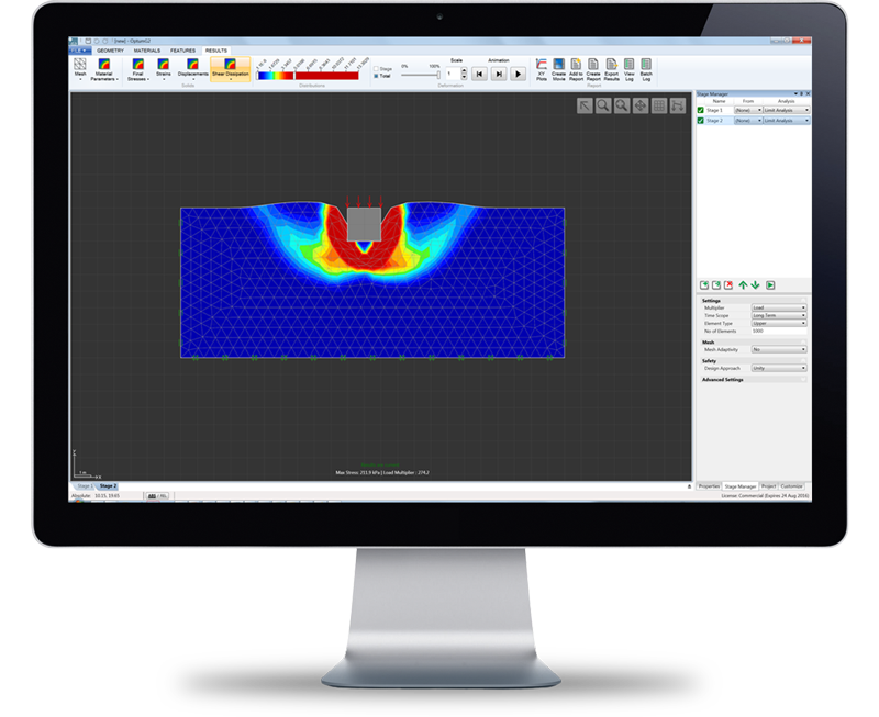 2d finite element limit analysis software