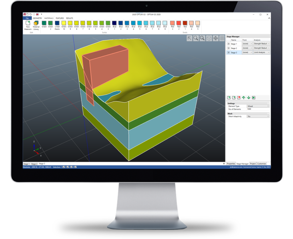 3d finite element limit analysis software